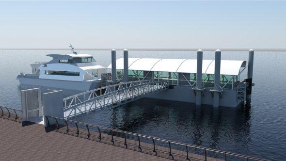 Citywide Ferry Landing Rendering