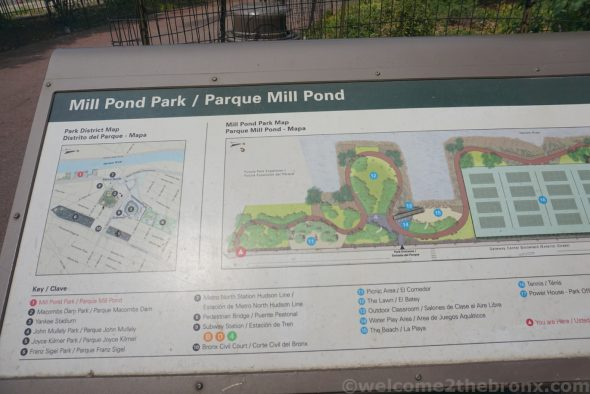 Mill Pond Park map at the park itself shows the southern parcel as part of future expansion of Mill Pond Park.