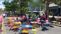 The cafe tables were set up in front of the museum under the shade, perfect for folks to relax, and meet knew people. NYC Council Speaker Melissa Mark-Viverito Spoke about how Boogie on the Boulevard was a wonderful example of community building.