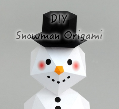 How To Make Snowman Origami DIY Step By Step Tutorial