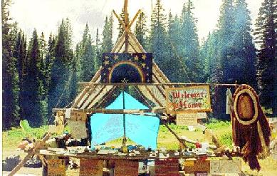 Too bad you can't see this, it's a beautiful picture of the Welcome Home tent from the 1992 Colorado National