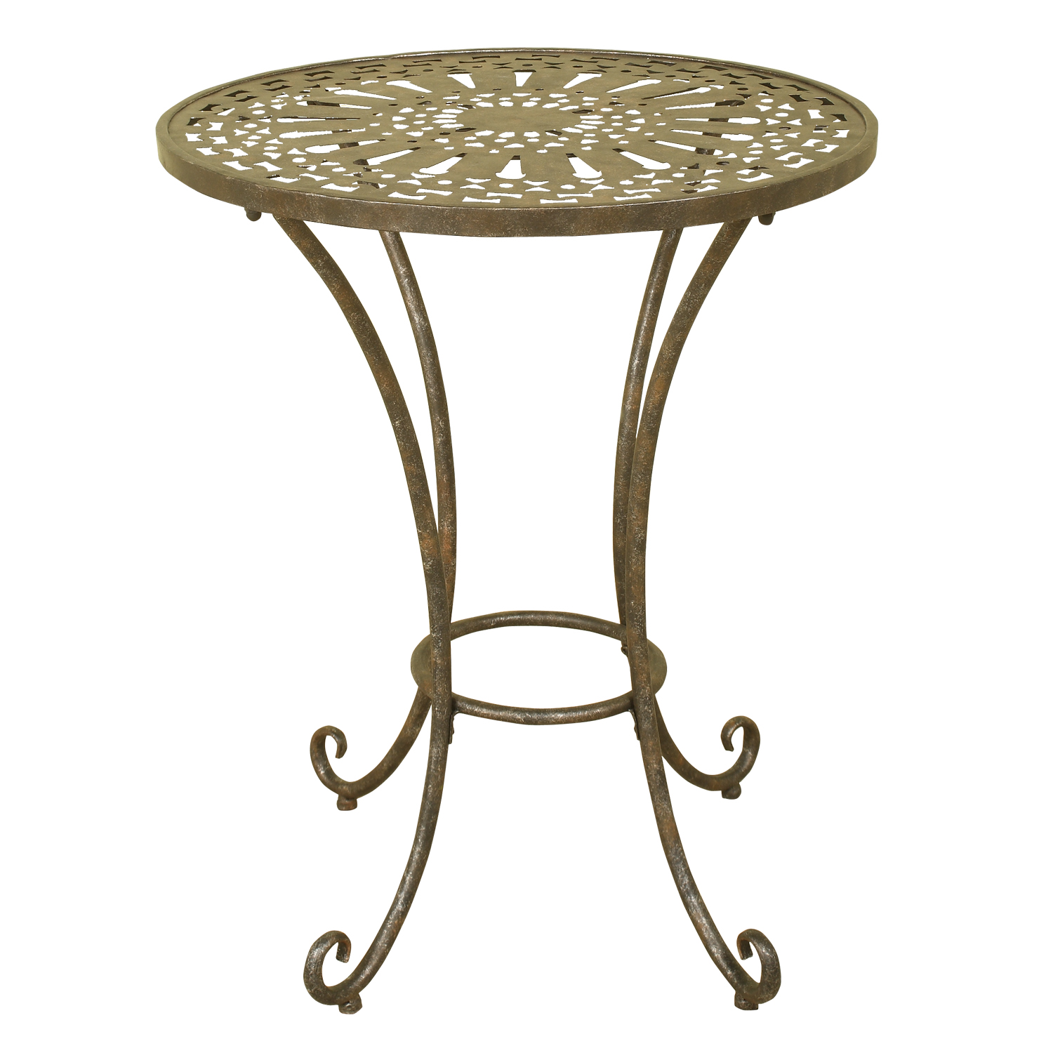 1217 Metal Accent Table Welcome Home Accents