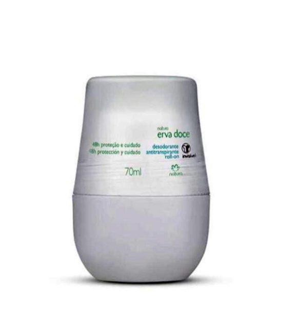 Desodorante Roll On Erva Doce (de R$ 17,90 por R$ 9,99).