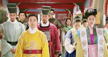 Royal couple in historical Korean costume