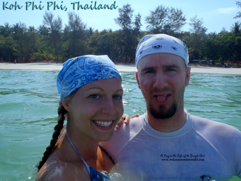 Selfies Through Asia | Swimming in the ocean by Koh Phi Phi Island, Phuket, Thailand | www.welcometoerinsworld.com