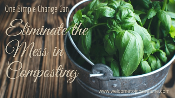 One Simple Change Can Eliminate the Mess in Composting