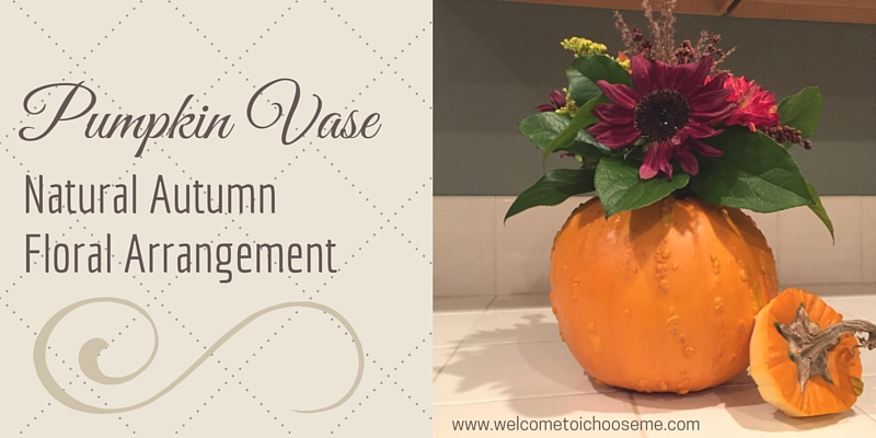 Pumpkin Vase: Natural Autumn Floral Arrangement