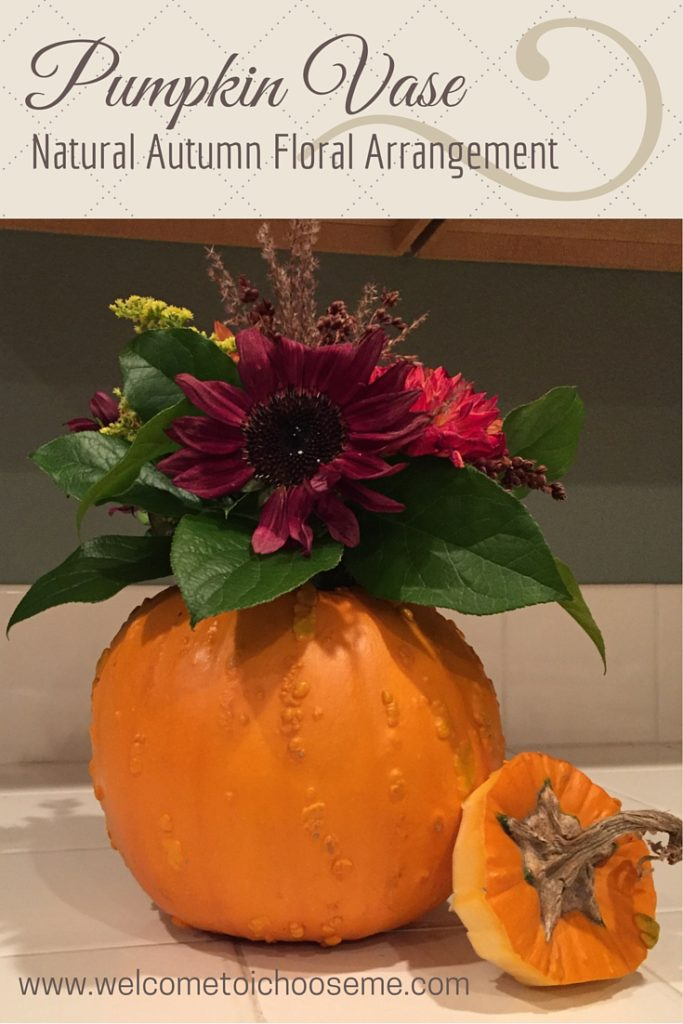 Pumpkin Vase - Natural Autumn Floral Arrangement Pin - I Choose Me