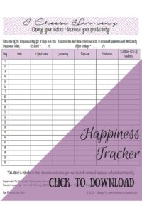 Happiness Tracker Preview - I Choose Me