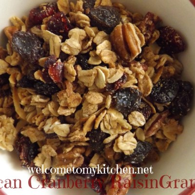 Maple Pecan Cranberry Raisin Granola