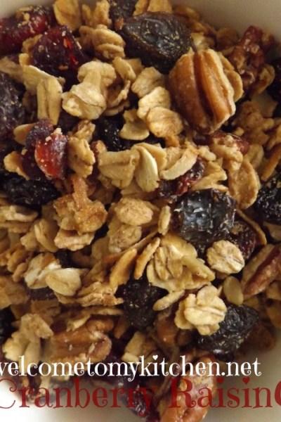 Maple Pecan Cranberry Raisin Granola