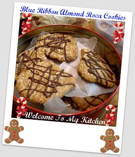 My Favorite Cookie~ Blue Ribbon Almond Roca