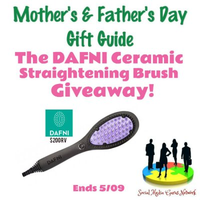 DAFNI Ceramic Straightening Brush Giveaway