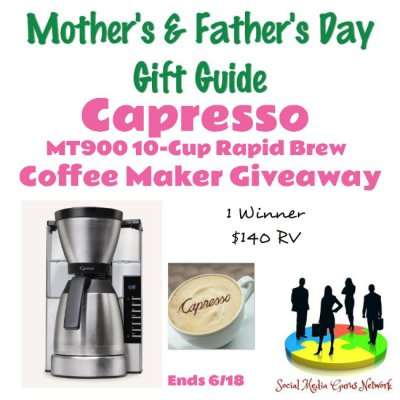 Capresso MT900 10-Cup Rapid Brew Coffee Maker Giveaway