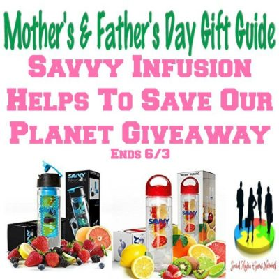 Savvy Infusion Helps To Save Our Planet Giveaway