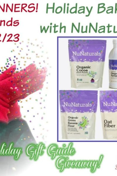 Holiday Baking with NuNaturals Giveaway @SMGurusNetwork @NuNaturals