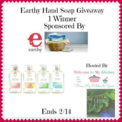 Earthy Hand Soap Giveaway @earthyorganic @skw3324