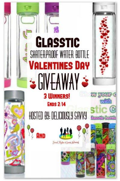 Glasstic Shatterproof Water Bottle  Giveaway @SMGurusNetwork @glassticbottle
