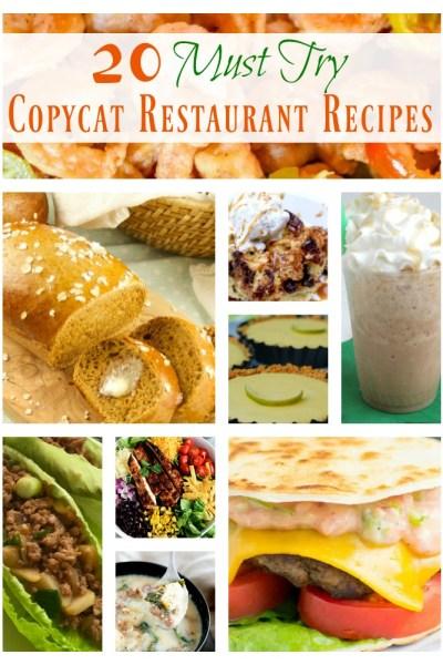 20 Must Try CopyCat Restaurant Recipes