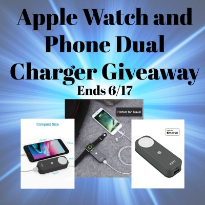 Apple Watch and Phone Dual Charger Giveaway @SMGurusNetwork