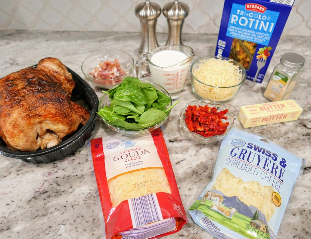 ingredients for Tuscan Chicken Pasta