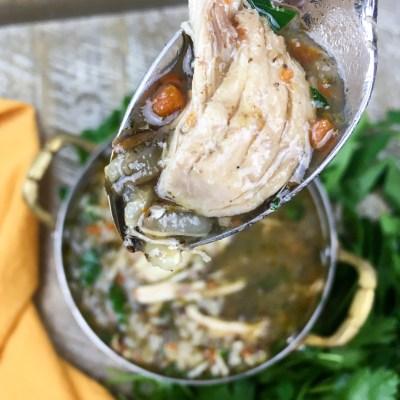 Instant Pot® Chicken & Wild Rice Soup