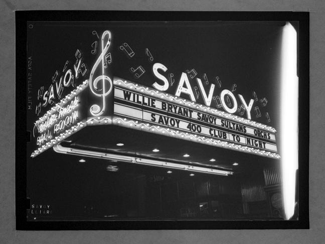 1937 – Savoy Ballroom Marquee. Source: Unknown