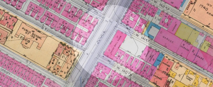 1932 Atlas of the City of New York, Borough of Manhattan, Vol. 4 & 5, published by G.W. Bromley & Co. Courtesy of DigitalHarlem.org
