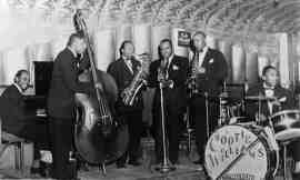 Mid-1940s - Cootie Williams' Orchestra including Butch Ballard on drums. Source: Peter Vacher Collection.