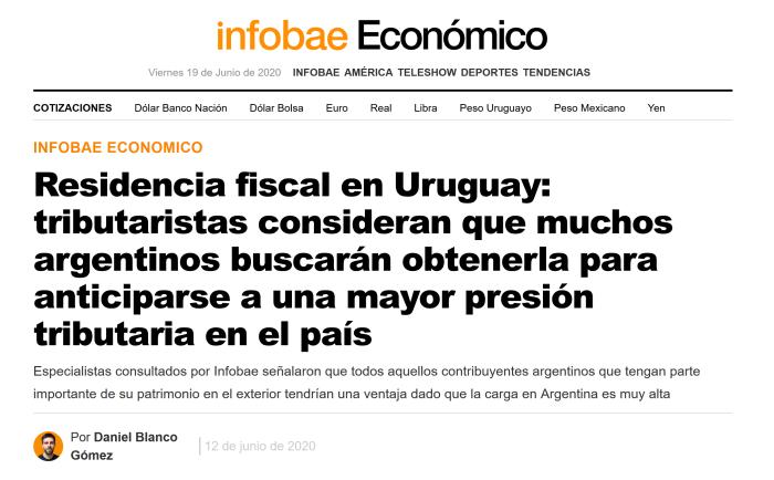 Nota Infobae Economico