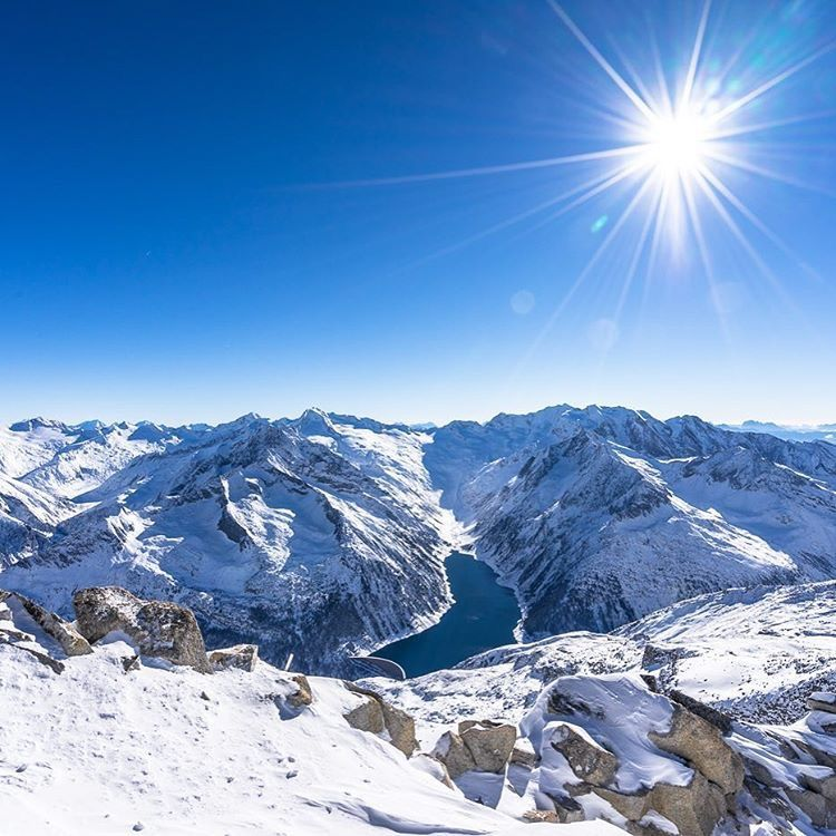 Schlegeisspeicher Winter seen zillertal