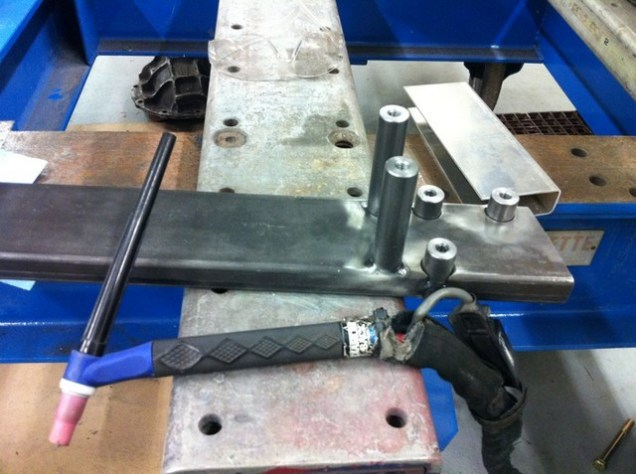 This is a crossmember that will mount the Unisteer rack.