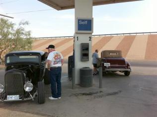 Gassing up at Van Horn.