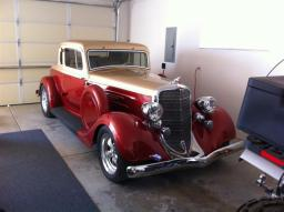 Syl & Shirley's current ride is a '34 Dodge. Very pretty.