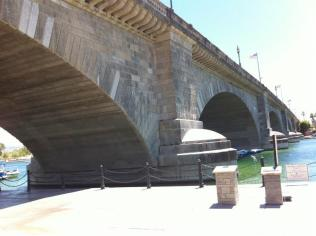 If you were wondering whatever happened to the London Bridge of London England fame, worry no more. It's safe and sound in Lake Havasu City. Brought over and reassembled brick by brick. A very pretty sight.