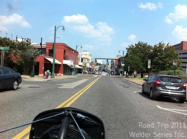 Driving the '32 into downtown Memphis TN