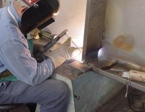 welder welding a joint