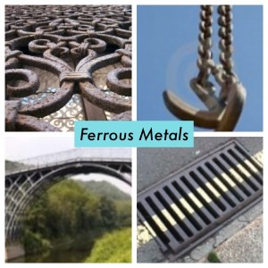 Examples of Ferrous Metals - Cast and Wrought Iron