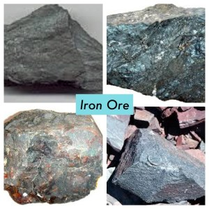 4 examples of iron ore