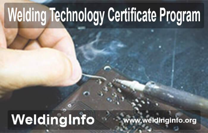 welding technology certificate
