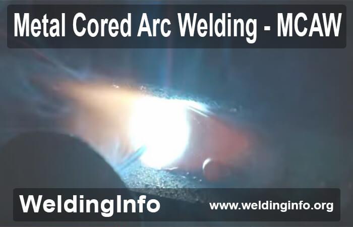 metal-cored arc welding