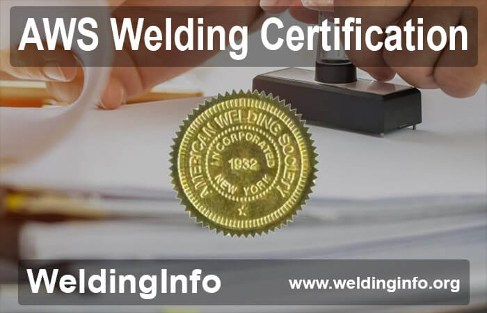 aws welding certification