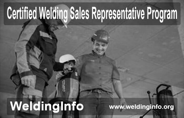 certified welding sales representative