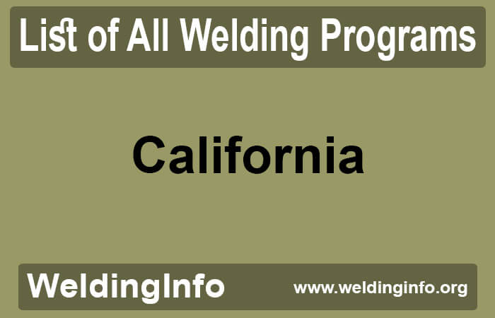 welding programs in california