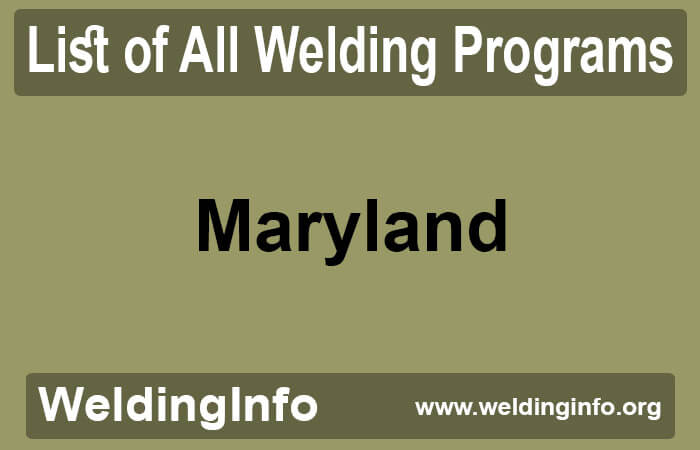 welding programs in maryland