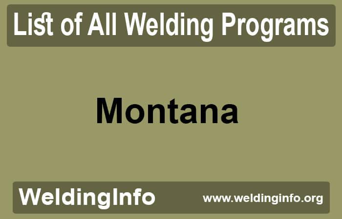 welding programs in montana