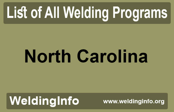 welding programs in north carolina