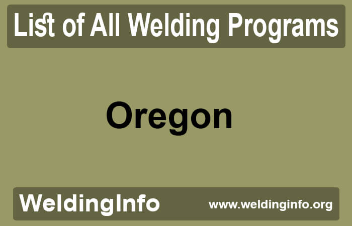 welding programs in oregon