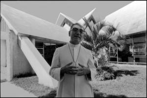 Archbishop Oscar Romero (1917 - 1980) at home in San Salvador, 20th November 1979.
