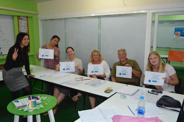 Graduation Day for Reading and Writing Class at We Learn Thai Chiang Mai